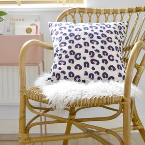 The Room Alive Feather Inner Animal Print Cushion Cotton Linen 45 X 45cm (feather Inner Wi
