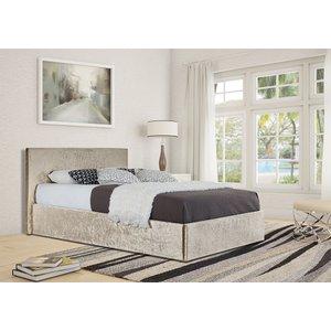 Theodore King Ottoman Storage Bed - Cream  5057289855673