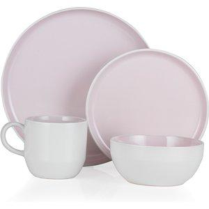 Tower Scandinavian Inspired Oslo 16-piece Stoneware Dinner Set - Pink Lemonade Bo867004pnk