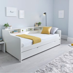 Tyler White Guest Bed And Orthopaedic Mattress Tygbw+clay