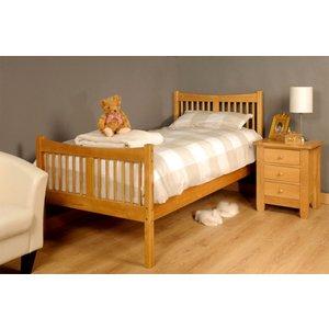 Valmiera Single Bed Frame - Caramel