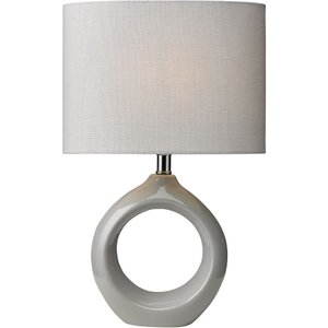 Village At Home Isla Table Lamp - Grey  5022551346838