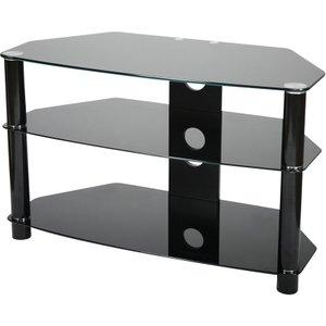 Vivanco 60cm Glass Tv Stand - Black  4008928260601