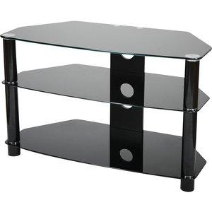 Vivanco Brisa 100cm Glass Tv Stand - Black 4008928260632