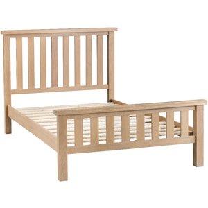 Wisborough 4'6 Light Oak Wooden Double-bed Frame