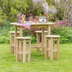 Zest4leisure Bahama Oval Garden Table And 4 Stools  5027003001723
