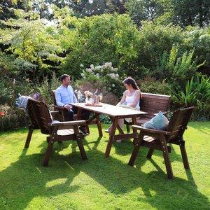 Zest4leisure Charlotte 6 Seat Garden Dining Set 25218
