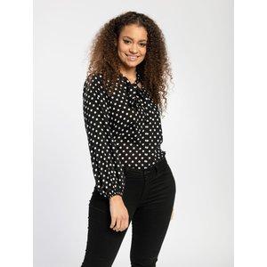 Pentlebay Womens Tie Neck Blouse (black Polka Dot, Size 12) Pbss20018 Pol 12 Womens Tops, Black Polka Dot