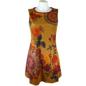 101 Idees Tan Suedette Tunic Dress 18 +3
