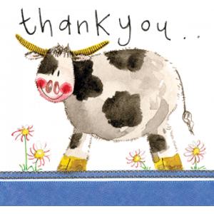 Alex Clark 'cow Thank You' Card