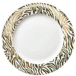 Animal Luxe Dinner Plate Zebra Print Gold