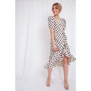 Avery Wrap Dress - Polka Dot Polka Dot - 14, Polka dot
