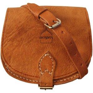 Berber Leather Small Half Moon Tan Saddle Bag