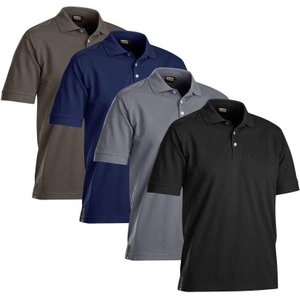 Blaklader Pique Work Polo Shirt. Moisture Wicking (breathable) - 3326 Grey 9400 - X Large , Grey 9400