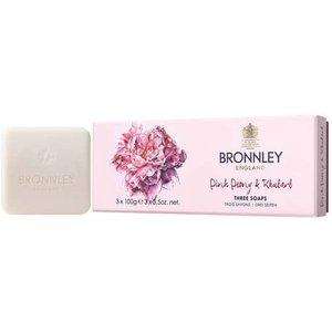 Bronnley Pink Peony & Rhubarb Soap 3 X 100g