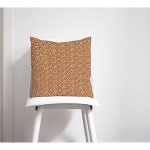 Brown Circles Cushion