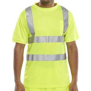 B-seen Hi Vis Crew Neck T-shirt - Bscntsen 2x Large