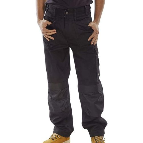Click Premium Multi Pocket Work Trousers With Duratex Kneepad Pockets- Cpmpt Navy - 44w X