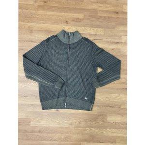 Cp Company Maglia Aperta Ribbed Zip Cardigan - Grey Xl