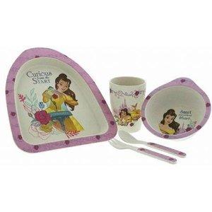 Disney Enchanting Beauty & The Beast Belle Bamboo 5 Piece Dinner Set Childrens Eco-friendl