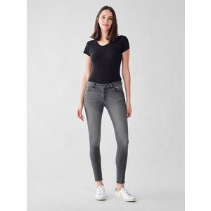 Dl1961 Florence Ankle Mid-rise Instasculpt Skinny Jeans - Drizzle 30