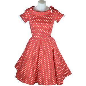 Dolly & Dotty Darlene Red & White Polka Dot Dress 22
