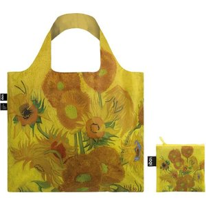 Foldable Tote Bag With Sunflowers Artwork By Vincent Van Gogh In Yellow