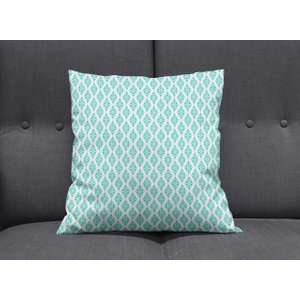 Geometric Blue Cushion