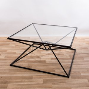 Gin Shu Tables - Black Parisienne Metal Coffee Table (large Or Small) Large