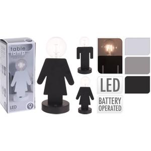 He & She Table Lamp Grey, Grey