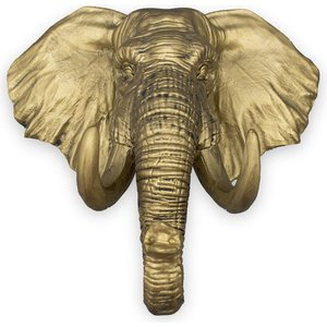 Iron & Glory - Elephant Key Holder For Wall / Key Hanger - Antique Gold Finish