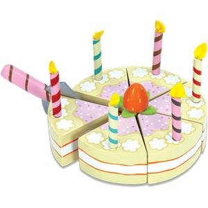 Le Toy Van Vanilla Birthday Cake - Wooden Food Playset
