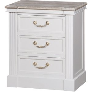 Liberty Collection Three Drawer Bedside