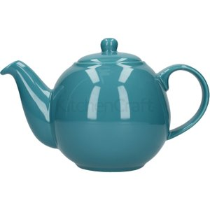 London Pottery Globe 6 Cup Teapot Aqua