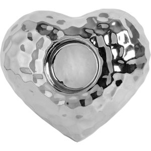 Love Heart Tea Light Holder In Dimple Effect