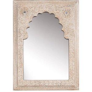 Mehindi Style Hand Finished Mango Wood Wall Mirror
