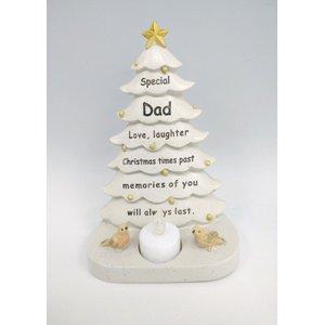 Memorial- Dad Christmas Tree Plaque 16363d