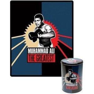 Muhammad Ali Fleece Throw In Collectable Tin