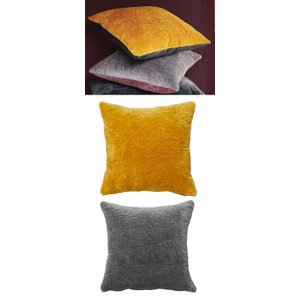 Namaste Reversible Quilted Velvet Cushion Cover, 45 X 45 Cm Spice, Spice