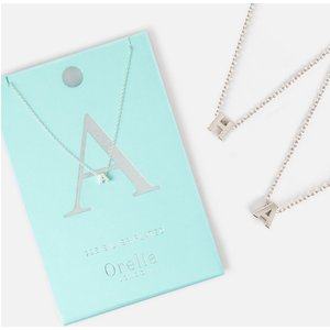 Orelia A-z Initial Necklace - Silver Plated