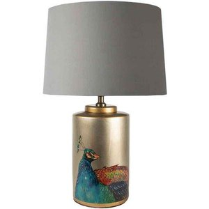 Peacock Jar Table Lamp With Shade