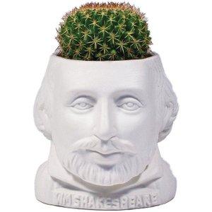 Plant Pot William Shakespeare Ceramic Mini Planter White