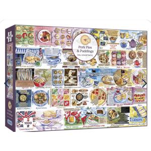 Pork Pies And Puddings  1000 Piece Jigsaw Puzzle