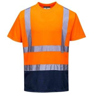 Portwest Hi Vis 2-tone Tee Shirt Ris 3279 - S378 Orange/navy - Medium, Orange/Navy