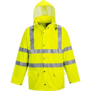 Portwest Hi Viz Waterproof Sealtex Ultra Unlined Pu Jacket - S491 Yellow - Medium, Yellow