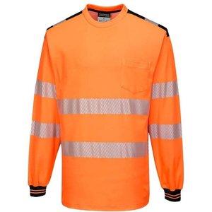 Portwest Pw3 Segmented Hi-vis Long Sleeved Tee Shirt Ris 3279 -t185 Yellow/black - Xl, Yellow/Black