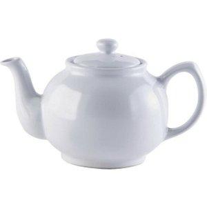Price & Kensington - White Porcelain Green Tea Coffee 6 Cup Teapot Serving Set New