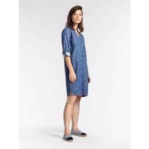 Sandwich Clothing Denim Animal Print Dress Denim Blue - 38, DENIM BLUE