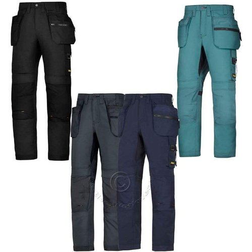 Snickers Allroundwork Trousers With Holster & Kn.. Petrolpetrol - 5151 - Long 150 (up To W