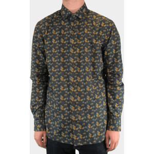 Trostol Grey & Orange Geometric Spiral Print Shirt 2xl